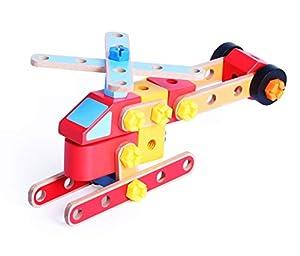 Iwood- Set de Construcción de Madera: Montable y Desmontable Montar y Transformar: Vehículos Antiincendios, (15006)