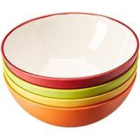 Gimex 550/507 - Cuencos de desayuno, 4 piezas, colores surtidos