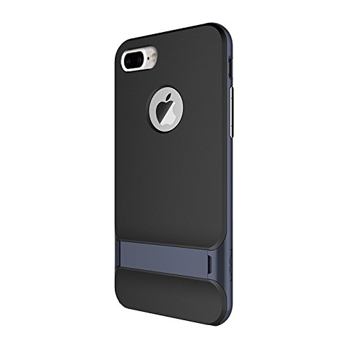 Hülle für iPhone 7 plus , Schutzhülle Für iPhone 7 Plus Business Style TPU + PC Schutzhülle mit Halter ,hülle für iPhone 7 plus , case for iphone 7 plus ( Color : Black ) Dark blue