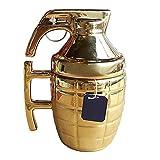 BonZeaL Army Grenade Mug with Lid Ceramic Coffee Mugs Tea Cups Birthday Gift