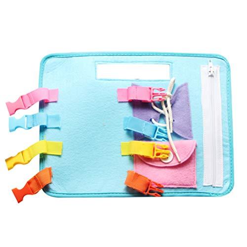 Lispeed Montessori Aprenda Vestir Tablas Tablero Fieltro