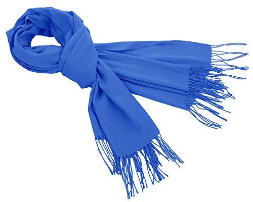Bbonlinedress Damen Klassisch Herbst Winter Schal Warm Kaschmir Halstuch Royal Blue (Kaschmir Blau Royal)