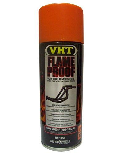 VHT Lack GSP114 Auspuff u.- Krümmerlack Flame Proof Orange matt hitzebeständig bis 1093°C (EUR 39,75/L) -