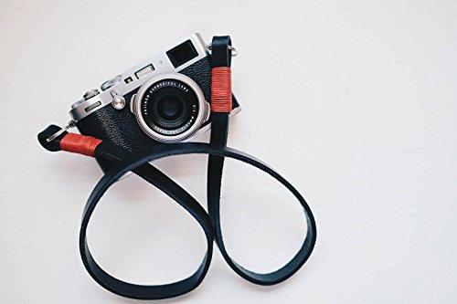 Tracolla in vera pelle per fotocamere mirrorless o reflex. Made in Italy Cinghia laccio fatta a mano per Fuji X Leica Olympus o Sony Xt2 xpro2 x100f xt20 a7r a7s x100 omd