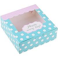 Mu Mianhua - Caja de papel para tartas, galletas, magdalenas, caja de regalo de 18 unidades, 12,7 cm