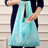 Qewmsg Floral Printed Oxford Stoff Faltbare Einkaufstaschen Wiederverwendbare Lebensmittelgeschäft Tragetasche
