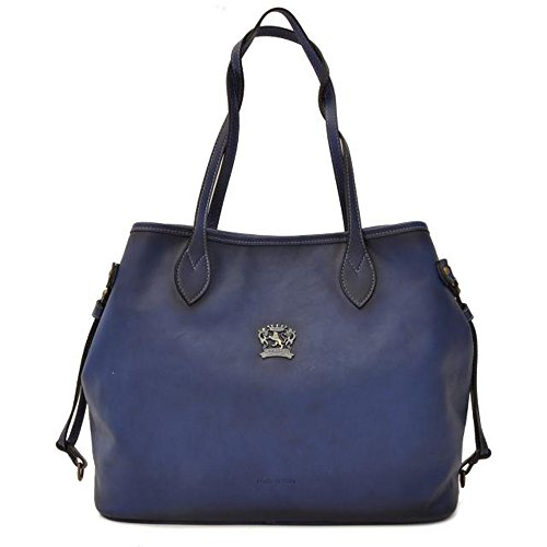 Pratesi Sicile cuir italien âgé de sac à bandoulière sac à main bleu
