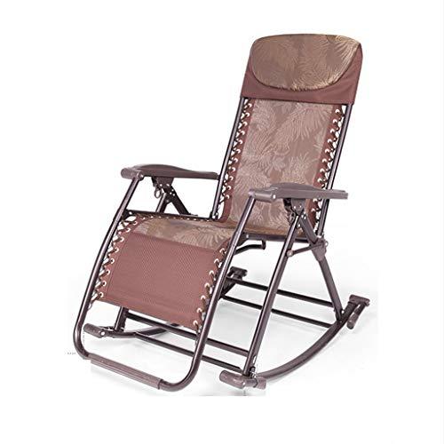 ZHENYANG Schaukelstuhl Liege Tragbare Mittagspause Älterer Stuhl Nach Hause Zurück Balkon Erwachsene Siestastuhl Klappbar