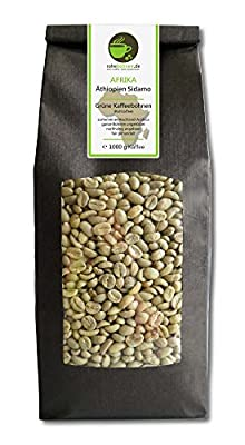 Green coffee beans Ethiopia Sidamo (highland raw coffee beans) by Rohebohnen