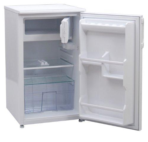 Techwood KS1101A+ Kühlschränk / 84 cm / 95 kWh/Jahr / Kühlteil 73 Liter / Gefrierteil 8 Liter / Flaschenablagen / weiß