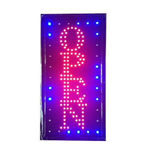 Bar a casa negozio LED Neon Decorazione macchiato illuminazione lampada luci targa segnaletica Lighting Sign Insegna luminosa cartelloni pubblicitari Open Verticale 220V