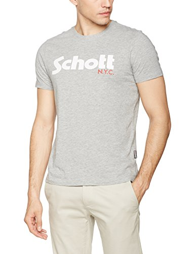 schott-nyc-tslogo-t-shirt-homme-grey-hgrey-m