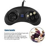 KinshopS Sei Pulsanti Gioco Maniglia Command Pad Accessori in plastica per Sega Megadrive