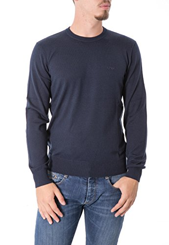 ARMANI JEANS - Homme col rond pull 8n6m91 6m12z blue