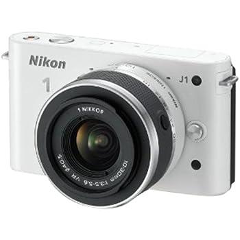 Nikon 1 J1 Systemkamera (10 Megapixel, 7,5 cm (3 Zoll) Display) weiß inkl 1 NIKKOR VR 10-30 mm Objektiv