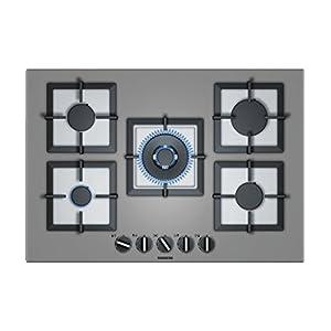Siemens EP7A8QB20 hobs Titanio Integrado Encimera de gas – Placa (Titanio, Integrado, Encimera de gas, Hierro fundido…