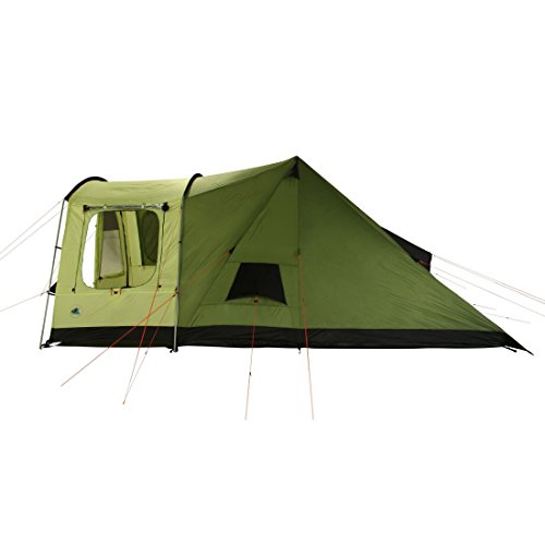 41B2DQjb33L. SS500  - 10T Outdoor Equipment Unisex's Tropico 4 Tunnel Tent, Green, One Size/4 Persons