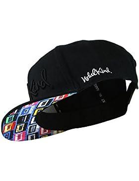 Nebelkind Snapback Cap schwarz mit Kassetten / Tape Muster onesize unisex