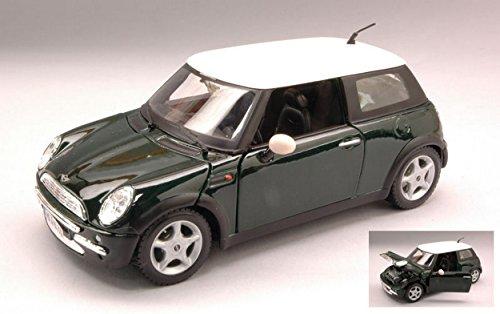 maisto-mi31219-new-mini-cooper-2002-green-w-white-roof-124-modellino-die-cast