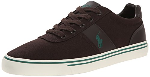 Ralph Lauren Mens Hanford SK VLC Textile Trainers Marron