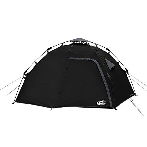 Qeedo 4 Mann Sekundenzelt Quick Maple 4, Campingzelt mit Quick Up System, Innenhöhe: 140 cm - schwarz