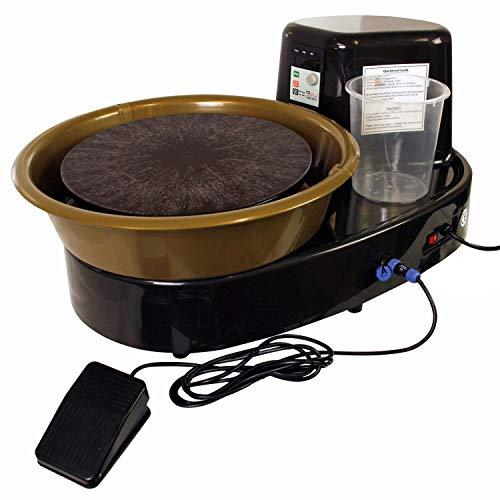 Airgoo Töpferscheibe Ceramics Clay Machine Pottery Wheel AG-60 250W Elektrische Maschine mit Independent Pedal DIY Keramik Formwerkzeug Keramik Rad Maschine