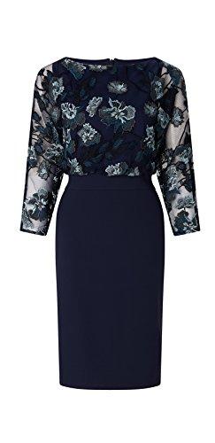 Liani Embroidered Batwing Shift Dress