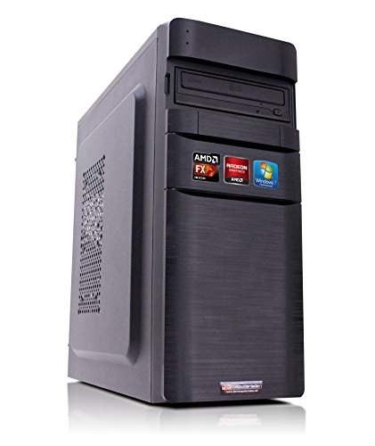 Office PC K11 AMD, FX-8350 8x4.0 GHz, 8GB DDR3, 1TB HDD, Radeon HD3000 1GB, Windows 7 Büro Computer Desktop Rechner