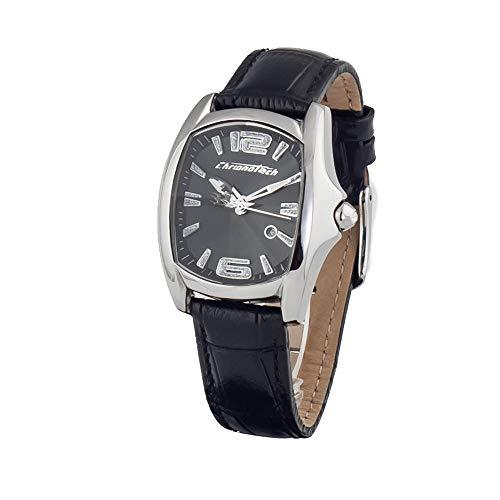 Chronotech orologio analogico quarzo donna con cinturino in pelle ct7107l-02