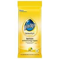 Pledge Lemon Wipes, 24 Count