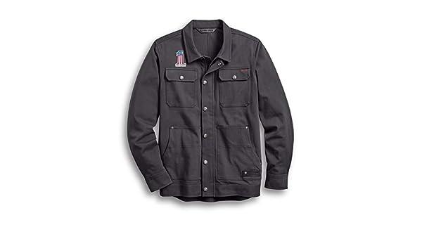 M Noir Harley Davidson Victory Lane 98057-13VM Veste en cuir pour homme