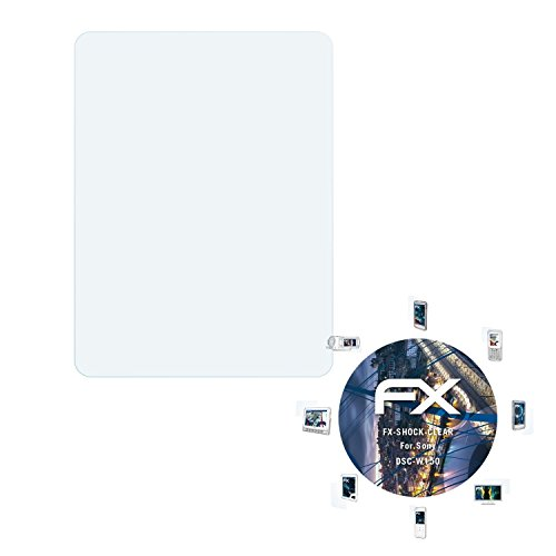 atFoliX Panzerfolie für Sony DSC-W150 Folie - 3 x FX-Shock-Clear stoßabsorbierende ultraklare - Sony Dsc-w150