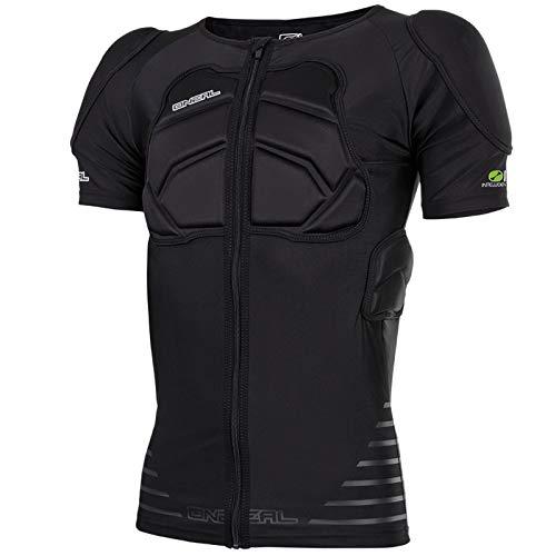 O\'Neal STV Short Sleeve Protektor Shirt Schwarz Kurzarm Motocross DH FR MTB Schutz Reißverschluss, 0280-21, Größe XL