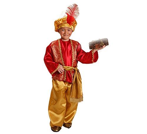 Imagen de disfraz de paje real rojo para niño
