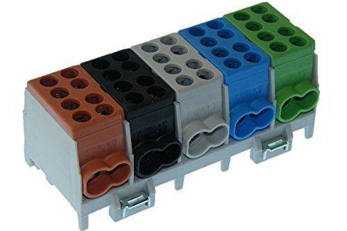 Hauptleitungs Abzweigklemme 5 polig für Hutschiene - Strom Verteiler …