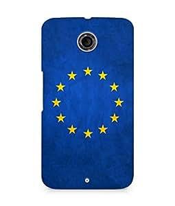 AMEZ European union flag stars europe texture Back Cover For Motorola Nexus 6