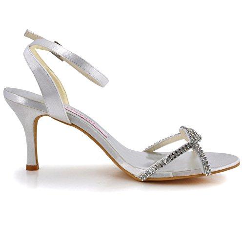 Minitoo , Chaussures de mariage tendance femme Ivory-7.5cm Heel