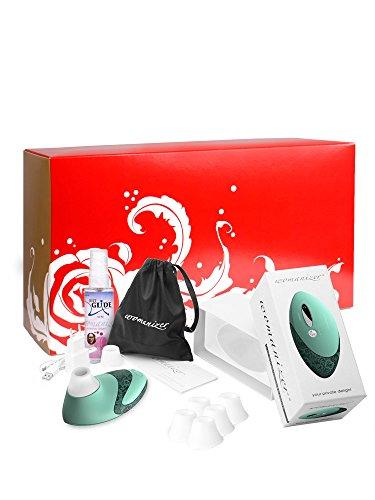 Womanizer Geschenkox: Womanizer Pro W500 mint/lace + Gleitgel + 5 Ersatzköpfe;