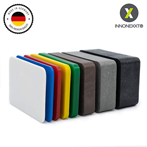 INNONEXXT® Premium Unterlegplatten | 60 x 40 mm, 160 Stück | Made in Germany | Abstandshalter, Plättchen aus Kunststoff | Tragfähigkeit bis 16 t | im Set: 1.5, 2, 3, 4, 5, 10, 15, 20 mm