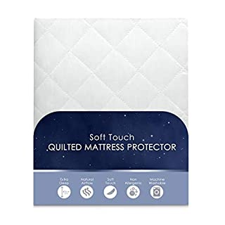 Ashley Mills Home Bedding Store King Size, Quilted Mattress Protector, Extra Deep, Fitted Mattress Protector