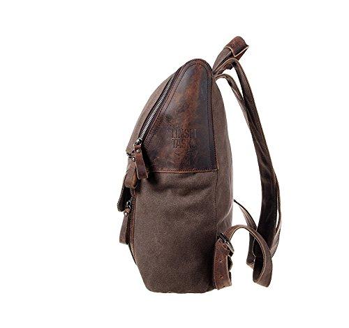 YAAGLE Damen und Herren Unisex Canvas Segeltuch Taschen Freizeit Retrotasche Handtasche Gepäck schicke Rucksack-kaffee kaffee