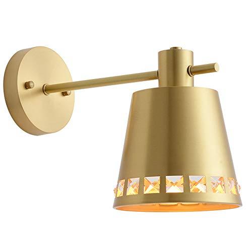 LED Modern Minimalist Kupfer Schlafzimmer Lampe Schlafzimmer Nachttischlampe Spiegel Leuchtturm Wohnzimmer Kreative Wandleuchte -