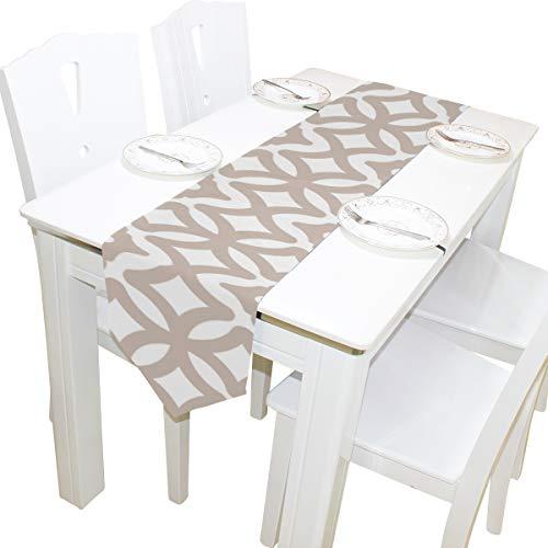 Yushg Abstrakte Geometrische Spalier Kommode Schal Stoffbezug Tischläufer Tischdecke Tischset Küche Esszimmer Wohnzimmer Home Hochzeitsbankett Dekor Indoor 13x90 Zoll