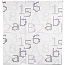 Your Choice 1158844 - Estor Enrollable Translúcido, Diseño Números, Blanco, 60x190cm