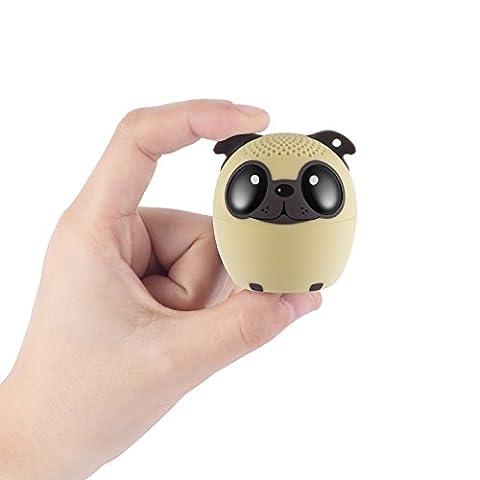 Bluetooth Lautsprecher Mini Tragbare Wireless Speaker für Smartphone/ Laptop / Handy als Kinder Geschenk Party Jogging Outdoor - Süßer Welpe