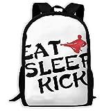 Backpacks Girl's Shoulder Bag Daypack School Season Eat Sleep Kick Karate Traveling Bags