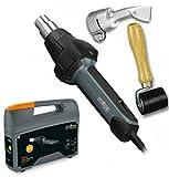 Steinel Tarpaulin Welding Repair Kit with Electronic HG 2420 E Hot Air Gun 230V