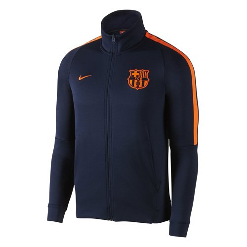 Official 2017 2018 Barcelona Mens Authentic Franchise Jacket, available to buy online in adult sizes S, M, L, XL, XXL. This Barcelona Franchise Jacket forms part of the Barcelona 2017 2018 training range and is manufactured by Nike. This jacket is ob...