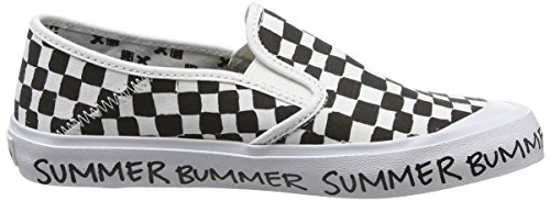 Vans Slip-On Sf, Baskets Basses Femme Multicolore (Summer Bummer/Checkerboard)