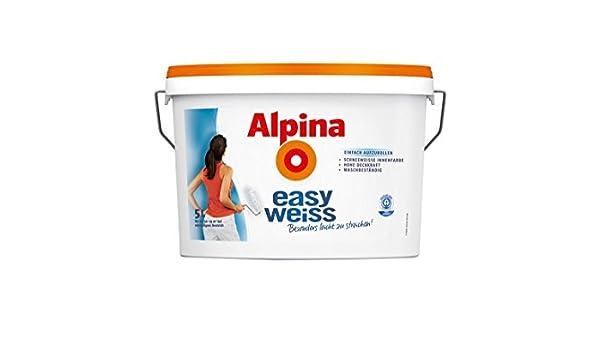 Alpina Wandfarbe 824840 EasyWeiss 2,5 Liter: Amazon.de: Küche & Haushalt